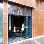 Bi-Folding Door in Avening Green 12