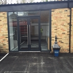 Bi-Folding Door in Avening Green 9